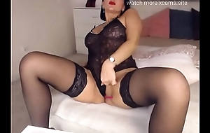 milf hot tease sexy outfit stockings heels