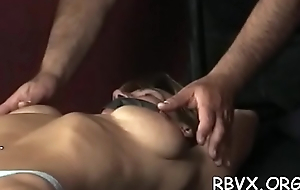 Slut can not move while a lad stimulates her pussy with vibrator