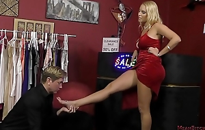 Hot Blonde Dominates a Customer In slay rub elbows with Store - Vanessa Cage - Femdom