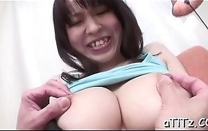 Sweet asian with perky tits excites clothes-horse with wet irrumation