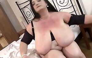 BBW with Big Tits and Stockings Creampied
