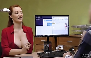 LOAN4K. Busty redhead pays with sex for development of her business