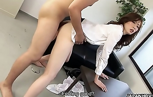 Japanese boss can&#039_t control with secretry in office hard sex