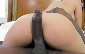 Aaliyah Hadid enjoys riding the black monster cock