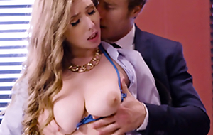 Lena Paul Busty office threesome
