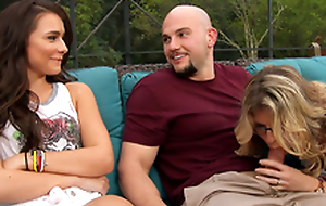 Naked Cory Chase & Kharlie Stone & JMac respecting My Friend's Hot Mom