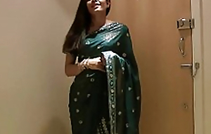 Pretty Unsubtle Jasmine in Sari strips to show us