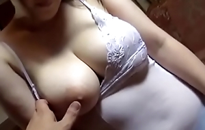 Lick the collective vagina Chitose Saegusa big boobs,Then ejaculate on the breast