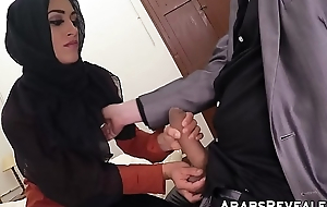 Gorgeous muslim babe fucks for a place to stay for the night