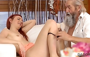 DADDY4K. Guy and his old daddy top off up to punish slutty girlfriend