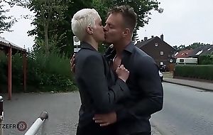 HITZEFREI Big tit German MILF white-haired up and fucked unchanging