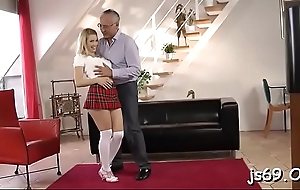 Amateur schoolgirl gets to ride a fat dong be useful to homework