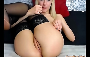 Wearing masturbating pantyhose and blonde a consider, that you