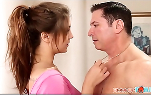 Cute Teen Daughter JoJo Kiss Fucked By Her Dad'_s Best Friend During Workout